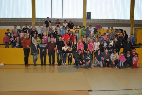 Die Teilnehmer des zweiten Spielefest des TV Vörden